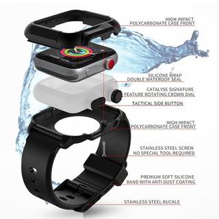 Khung ốp mặt đồng hồ chống thấm nước cho Apple watch 38mm 42mm 40mm 44mm series 6 SE 5 4 3 2 1