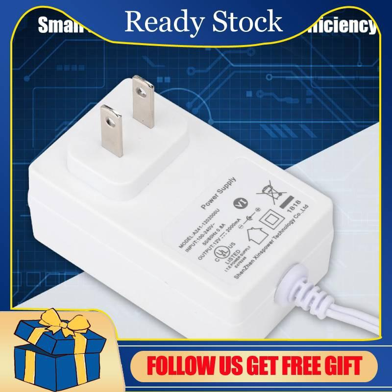 24W 12V 2A Small Universal Protective Power Supply Adapter (100-240V US Plug) lemendhk Giá chỉ 82.000₫
