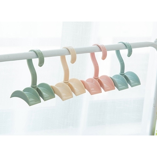 SW Creative tie hook plastic coat hook wardrobe bag storage rack household