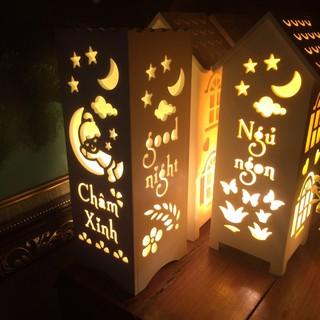 Quà Noel – Quà Giáng sinh ý nghĩa – Đèn ngủ hand made khắc chữ theo yêu cầu.