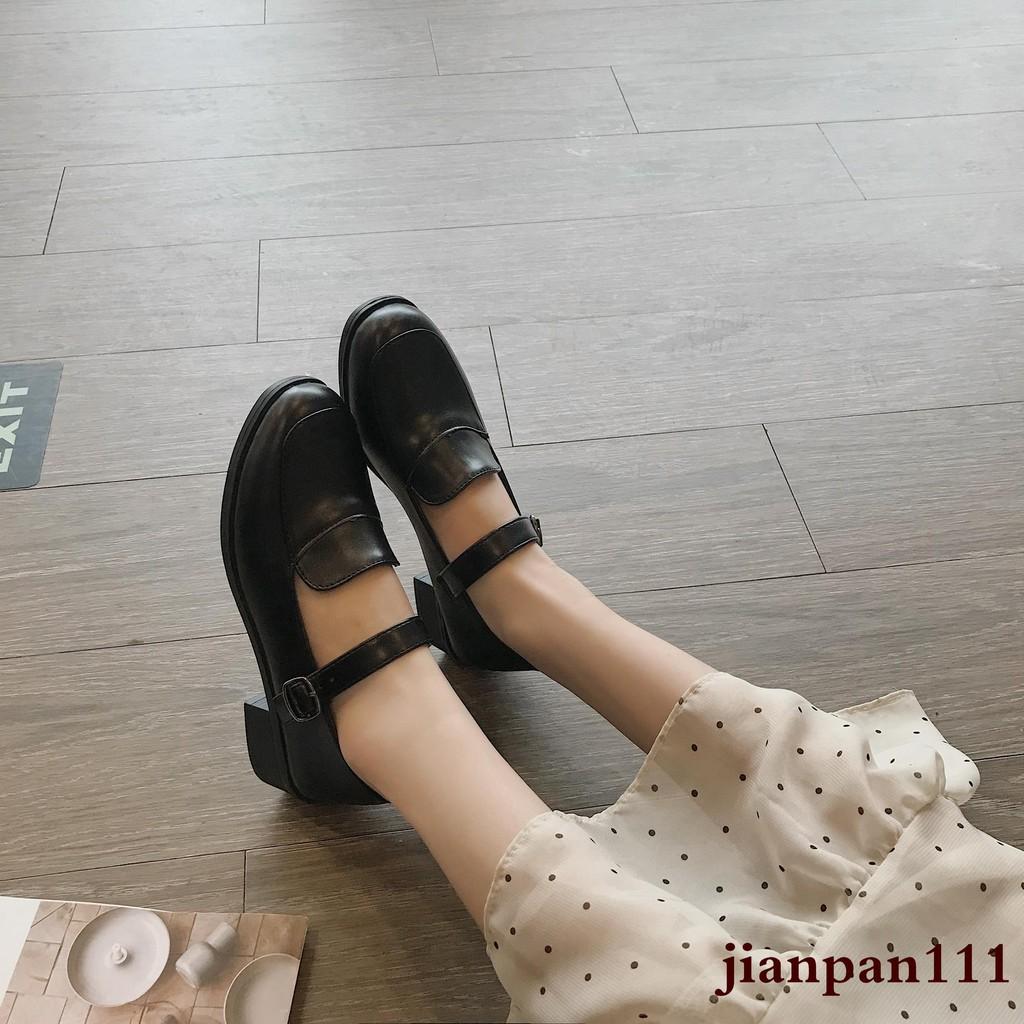 giày da nữ mũi tròn đế dày thời trang hàn - 14300003 , 2465396975 , 322_2465396975 , 236300 , giay-da-nu-mui-tron-de-day-thoi-trang-han-322_2465396975 , shopee.vn , giày da nữ mũi tròn đế dày thời trang hàn