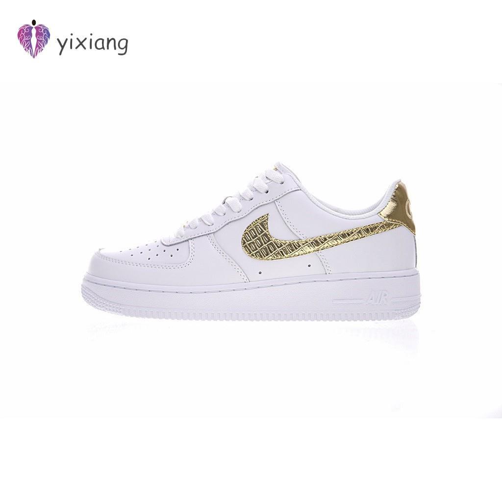 รองเท้าผ้าใบ Nike Air Force 1 Low CR 7 สีทองสำหรับผู้ชาย