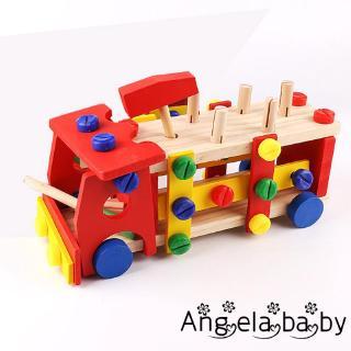 ⓗღ✯new Knock Nut Car Multifunction Knock the Cart Disassembly Children Early Educational Toys