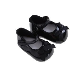{NUV} High Quality Fashion Black Shoes Boots For 18inch American Girl Doll Party Gifts{LJ}