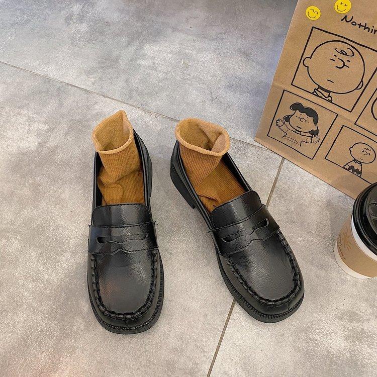 Giày Búp Bê Mũi Vuông Thời Trang Đơn Giản Cho Nữ