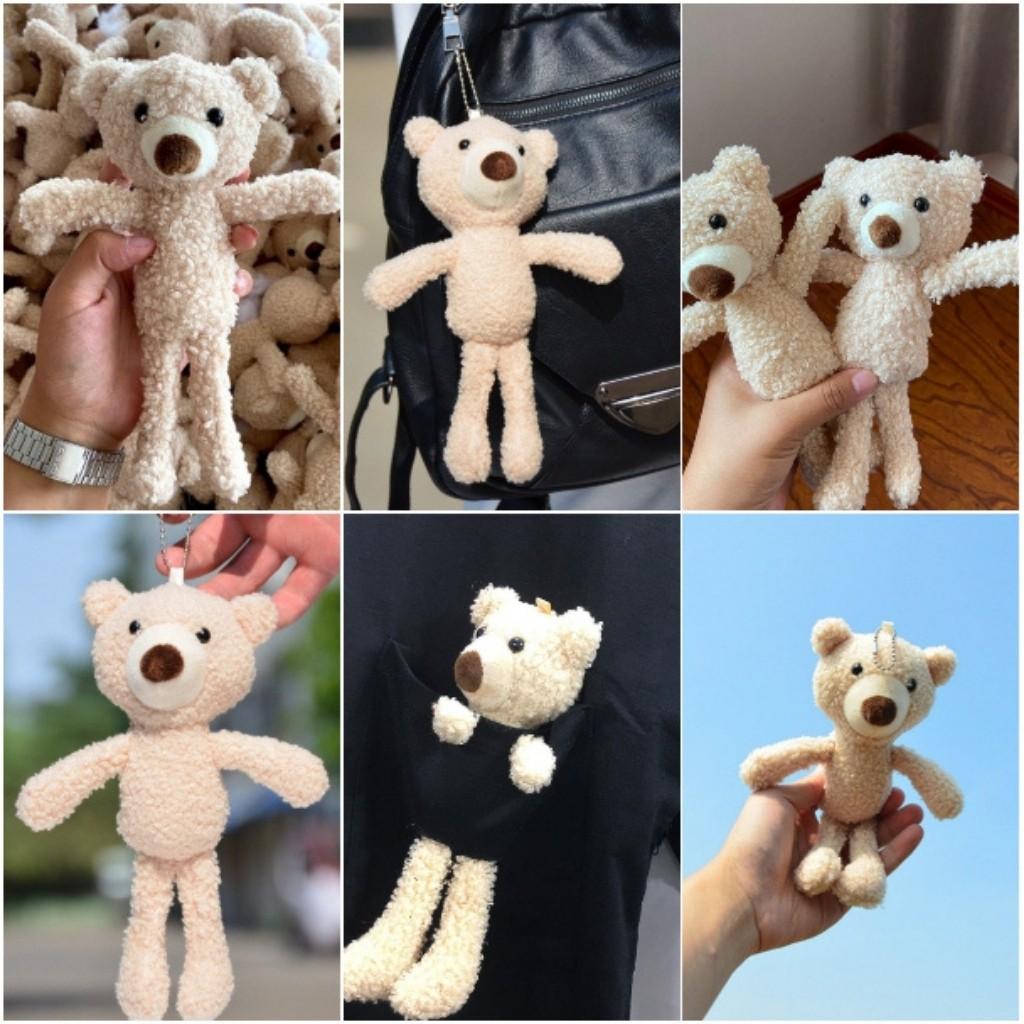 Gấu nhồi bông móc khóa móc ba lô (quà tặng sinh nhật -valentine- giáng sinh )