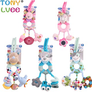 Bearoom Baby Toddlers Rattles Educational Toy Crib Hanging Bell Soft Strolle Toy