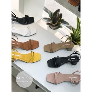 Giày sandal quai ngang mảnh 2 dây gót trụ 5 cm Myss - SD87 thumbnail