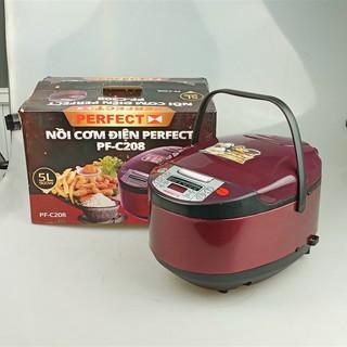 Nồi cơm điện tử Perfect PF-C208 nhiều chức năng nấu tích hợp dung tích 5 lít