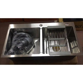 Chậu Rửa Chén 2 Hộc 8245B Inox 304