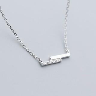 Dây Chuyền Bạc Ý S925 Hình Thanh Ngang Đính DB-1576 -Bảo Ngọc Jewelry