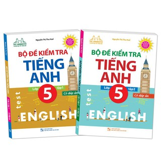Sách - Combo Bộ đề kiểm tra tiếng Anh lớp 5 (trọn bộ 2 tập) có đáp án