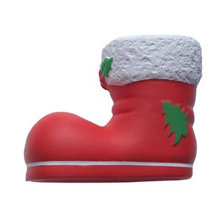 Funny Squishy Simulate Christmas Boot Squeeze Toy Stress Reliever Gag Prank Toy