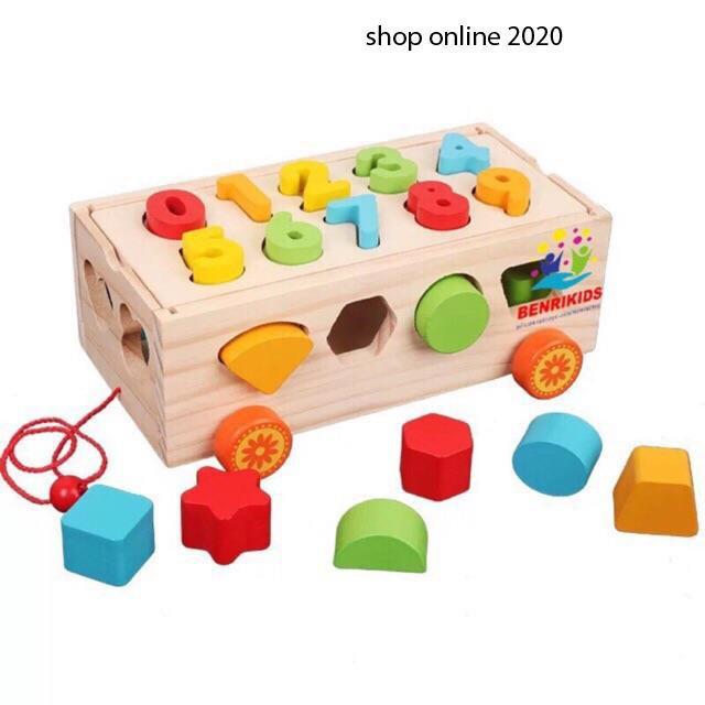 Shopmykieu Đồ chơi xe kéo thả hình mykieushop