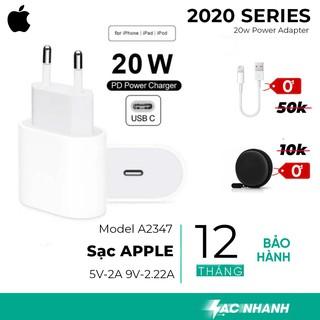 Sạc Nhanh 20w Chính Hãng Apple Cho iPhone 12 12 Pro max - Hàng Chính Hãng thumbnail