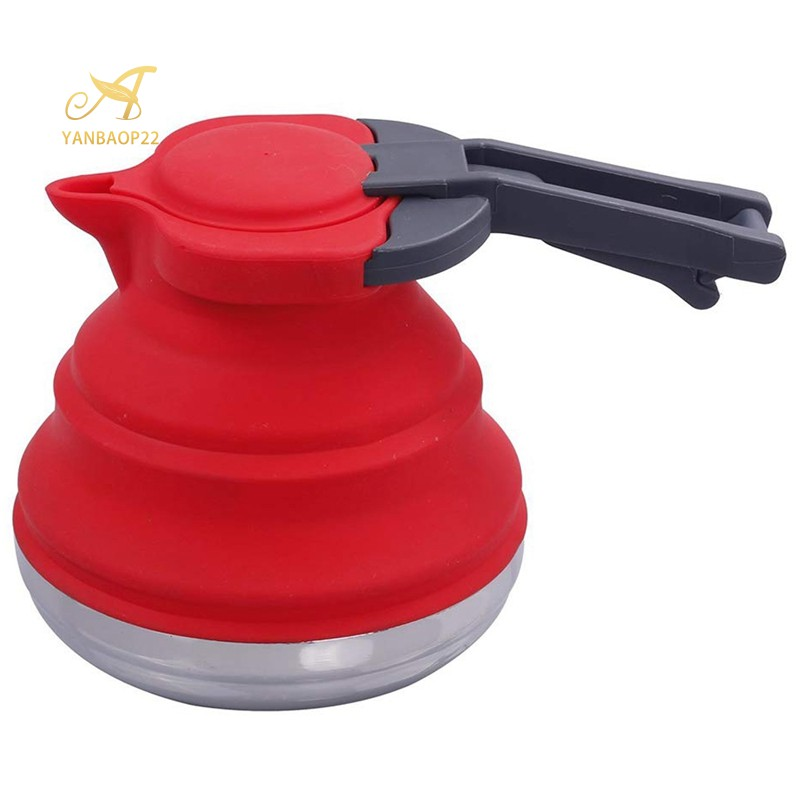 Portable Silicone Collapsible Tea Outdoor Camping Travel Kettle Foldable