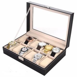 Hộp đựng đồng hồ FREESHIP Hộp đựng 12 đồng hồ trưng bày bằng da thumbnail