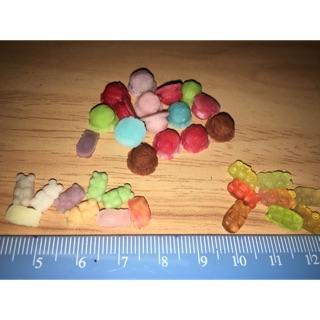 gummy bear, kem mini (tỉ lệ 1:12)phụ kiện trang trí búp bê