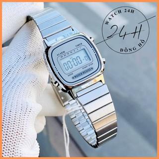 Đồng hồ nữ DVV38 dây thép không gỉ sáng bóng, size mini cực xinh cho các nàng thơ