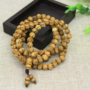 108 peach wood beads bracelet fashion jewelry wood crafts
