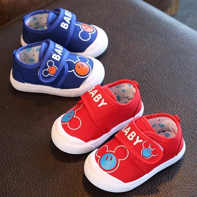 giày tập đi cho bé xanh/đỏ - Size 17 đến 22 - Baby 1