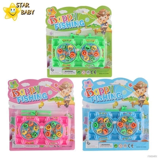 New Lovely Wind-up Fishing Toy Play House Small Fishing Puzzle Gift For Children
