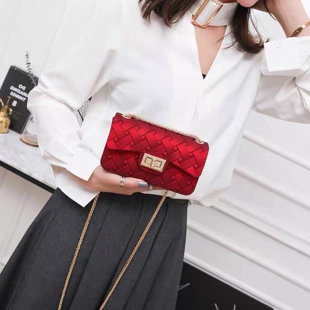 [Mã WBMAX20 giảm Giảm 20% tối đa 20K đơn Bất kỳ] Túi xách đeo chéo Hàn Quốc nữ đẹp silicon DC19