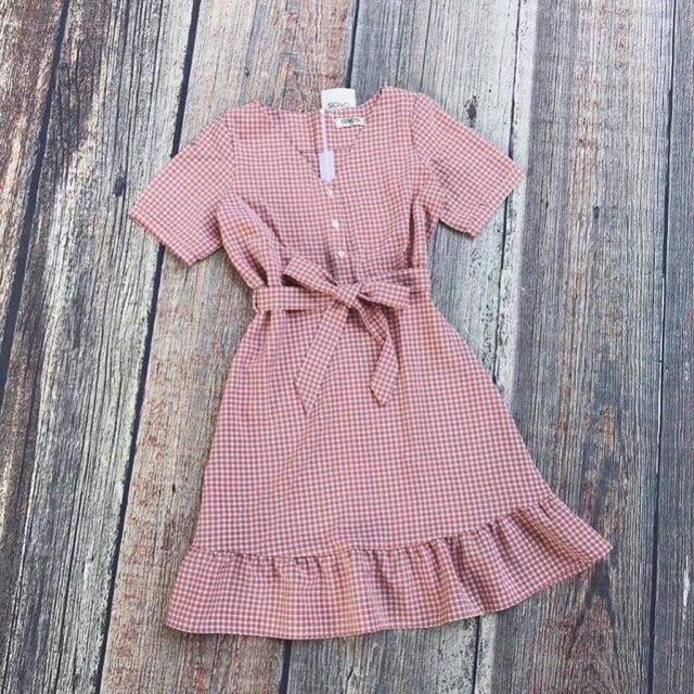 Váy kẻ caro nhỏ 3 màu
