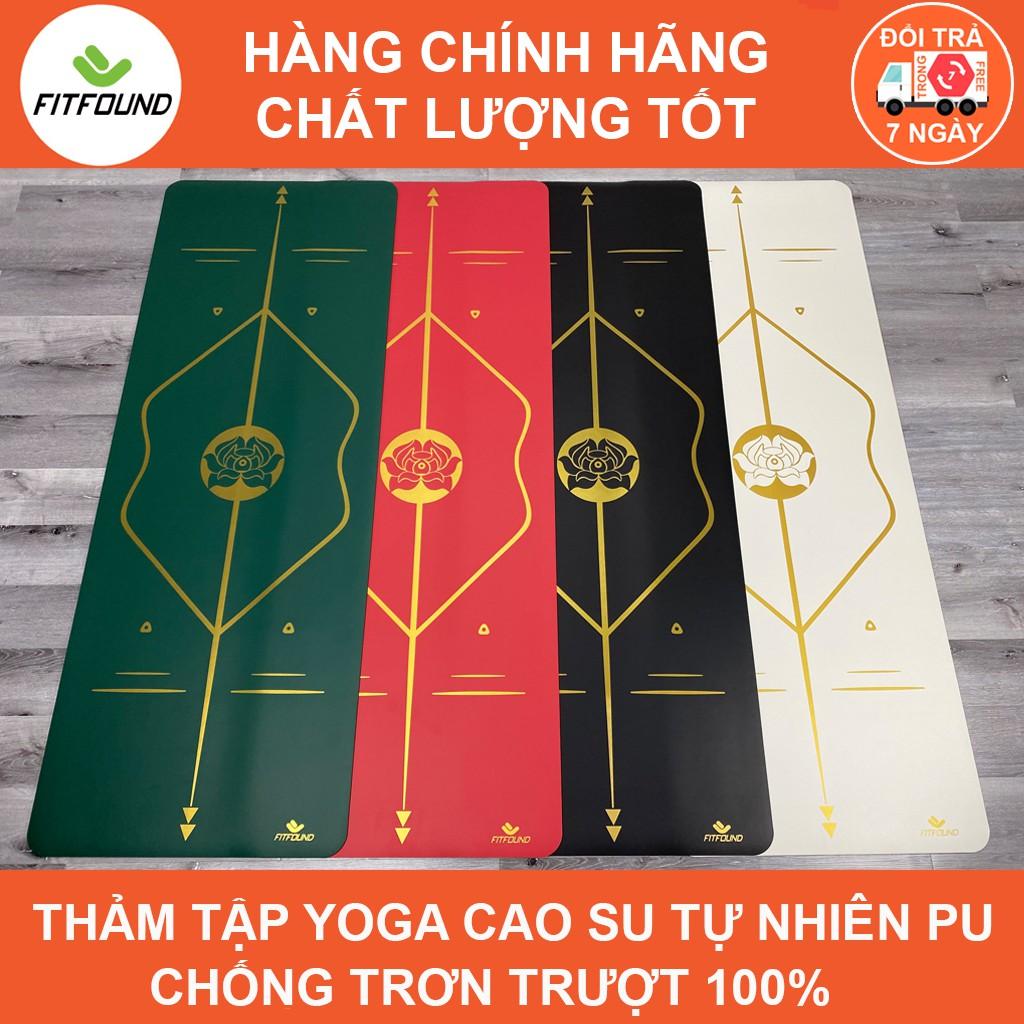 Thảm Tập Yoga Gym Pilates Cao Su Pu 4.5mm Chống Trơn Trượt Tuyệt Đối In Định tuyến