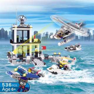Bộ Mô Hình Lắp Ghép Lego Cảnh Sát Biển 536 Chi Tiết ( 6 Tuổi +)