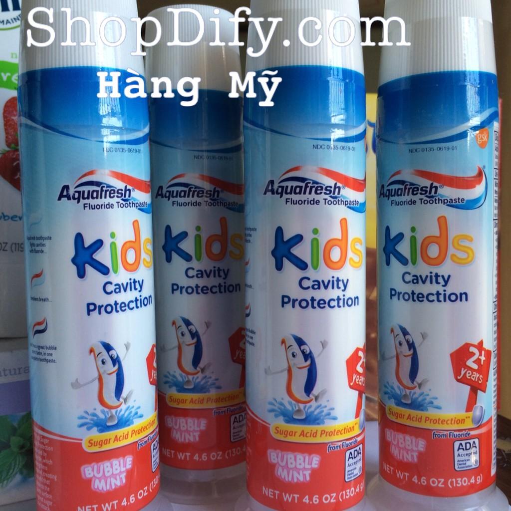 Kem đánh răng trẻ em của Mỹ - AQUAFRESH KIDS/ KID - cho bé trên 2 tuổi, Cavity Protection 130.4g - 3440681 , 887131095 , 322_887131095 , 75000 , Kem-danh-rang-tre-em-cua-My-AQUAFRESH-KIDS-KID-cho-be-tren-2-tuoi-Cavity-Protection-130.4g-322_887131095 , shopee.vn , Kem đánh răng trẻ em của Mỹ - AQUAFRESH KIDS/ KID - cho bé trên 2 tuổi, Cavity Protec