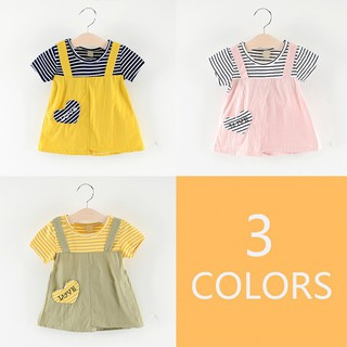 ✨Superseller✨ Children Girls Cute Print Fake Two Piece Sweet Princess Dress