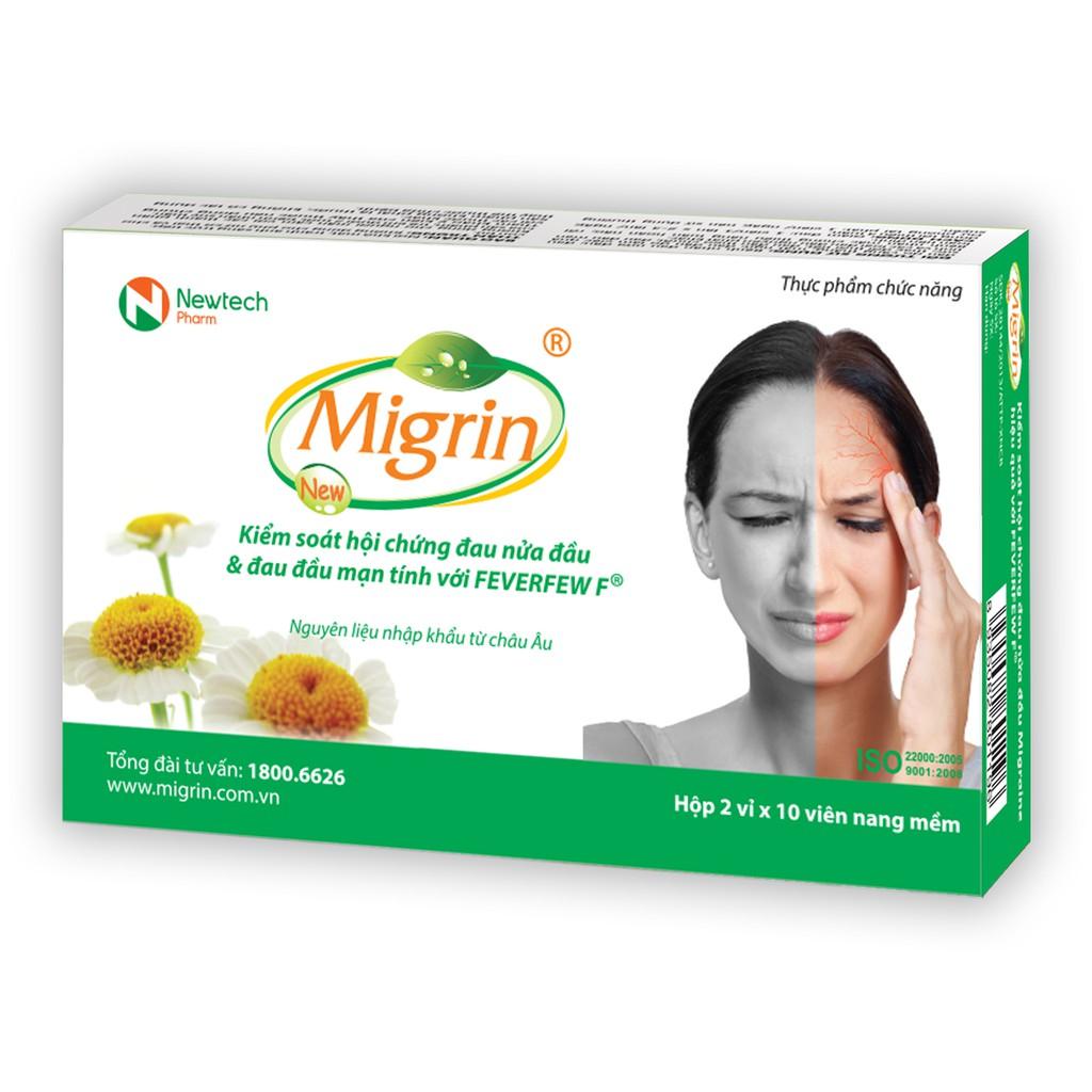 MIGRIN (kiểm soát cơn đau nửa đầu và đau đầu mạn tính)