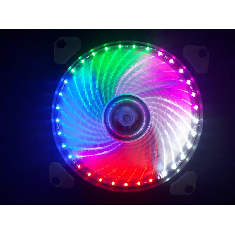 Quạt làm mát cpu 33 bóng led | fan case 33 led 5 màu