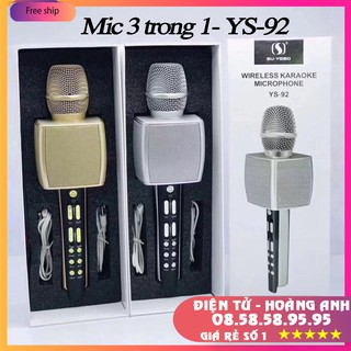 Mic Hát Karaoke Bluetooth không dây YS92 Dùng Hát Tại Nhà Hoặc Livetream (YS93-YS90-YS91-YS95-SD08-SD10-SD17-SD18-L698)