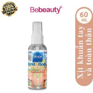 Xịt làm sạch tay và toàn thân không mùi, không cồn Bioion Sanitizer Malaysia 60ml 2201723 thumbnail