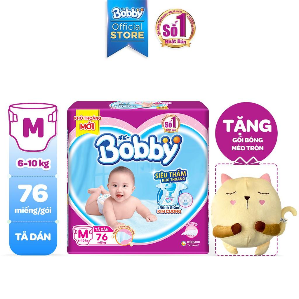 Tã Dán Bobby Siêu Thấm - Khô Thoáng M76/L68/XL62/XXL56