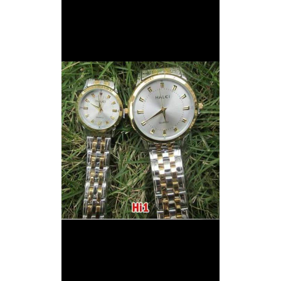 [Mã WTCHFEB giảm 20K ] [ Mua 2 tặng 2][ NEW] Đồng hồ nam nữ Halei dây dmi đẹp tuyệt