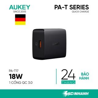 Cốc Sạc Aukey PA-T17 Tiêu Chuẩn An Toàn Sạc Nhanh Quick Charge 3.0 Công Suất 18W - Hàng Chính Hãng thumbnail