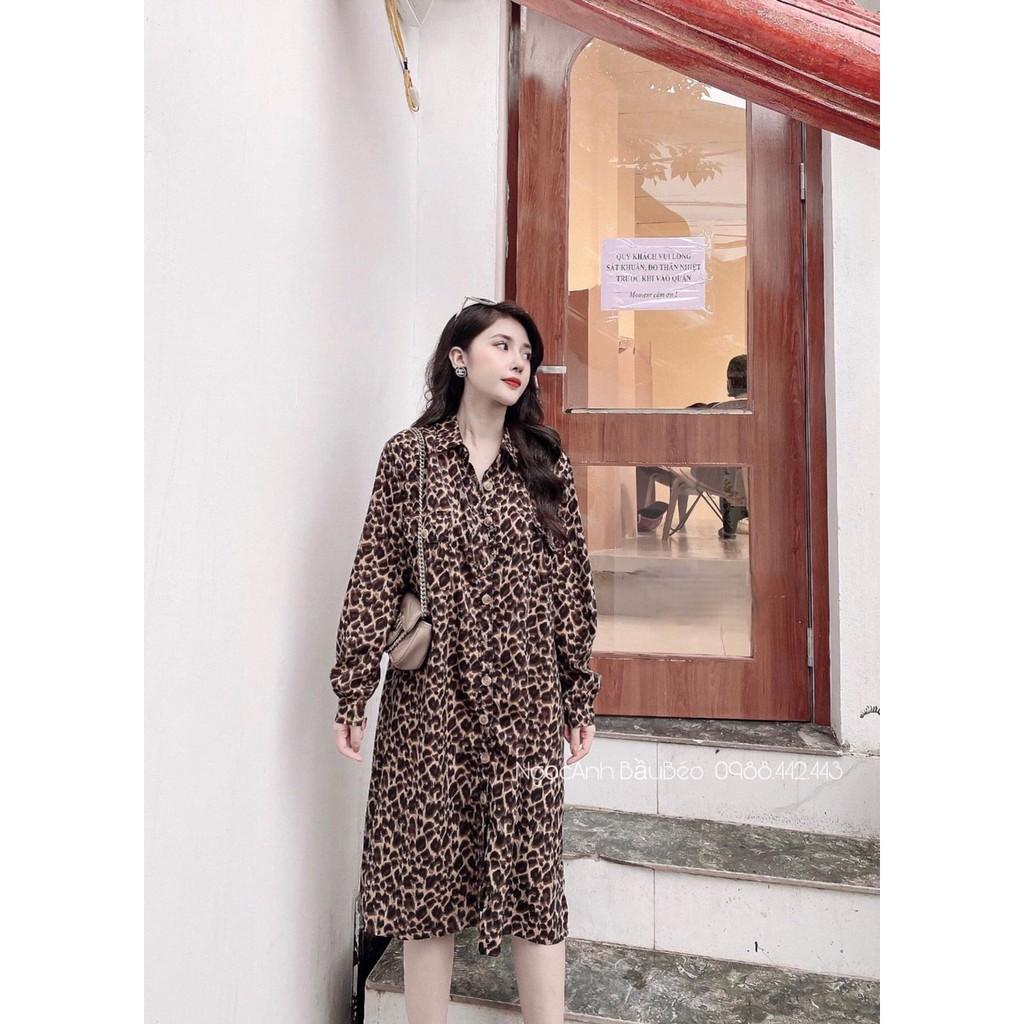 Mặc gì đẹp: Dễ chịu với Đầm bầu sơ mi đẹp Aidenshop váy bầu thời trang thiết kế dáng dài công sở thu đông