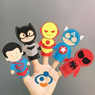 Đồ chơi giáo dục-Hàng xuất khẩu-Bộ rối ngón tay hình Siêu nhân đáng yêu dành cho bé từ 1 đến 3 tuổi