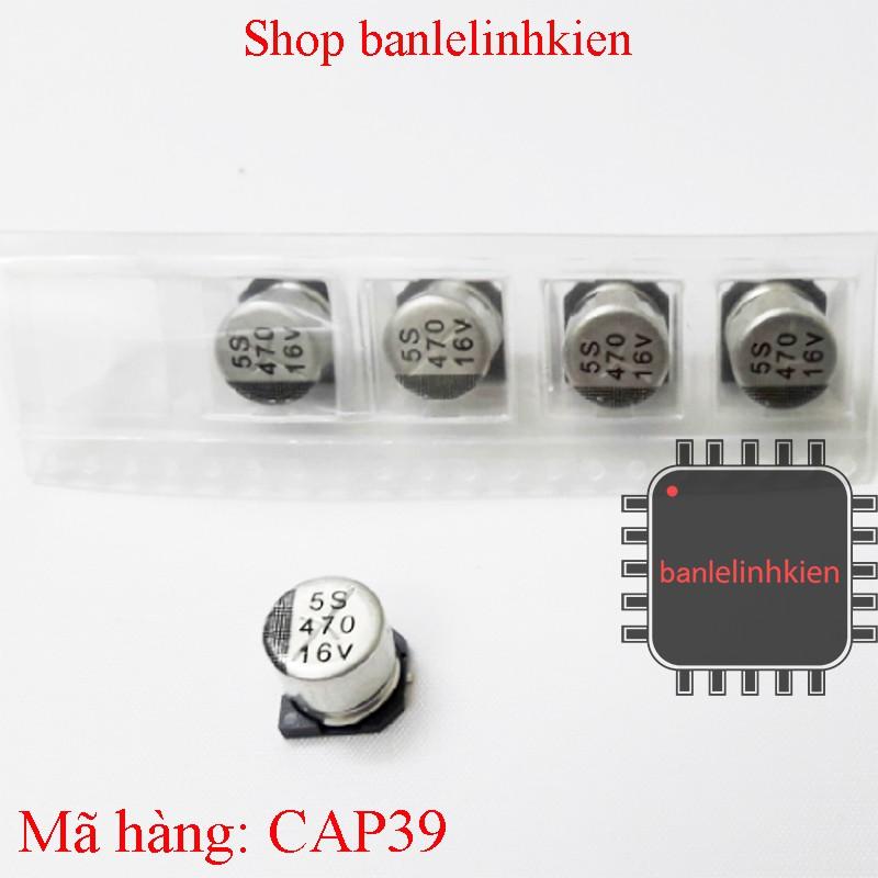 Tụ hóa nhôm 470uF 16v 5S 10x10x10mm