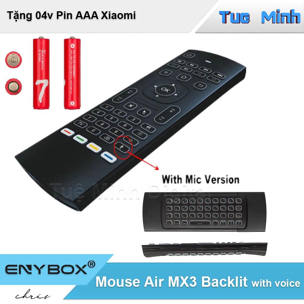 Chuột bay điều khiển không dây Mouse Air MX3 Pro có Voice - tặng kém 02v Alkaline AAA ZI7 Xiaomi