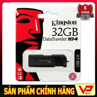 [Mã ELFLASH5 giảm 20K đơn 50K] USB Kingston DT104 32GB - Bảo hành chính hãng 5 năm