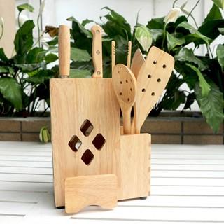 Hộp dắt dao, đựng muỗng nĩa gỗ Đức Thành
