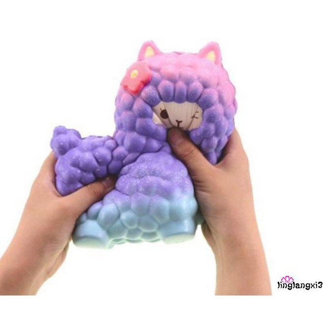 LNN-17*13cm Jumbo Sheep Squishy Cute Alpaca Galaxy Super Slow Rising Scented YJ-5800T