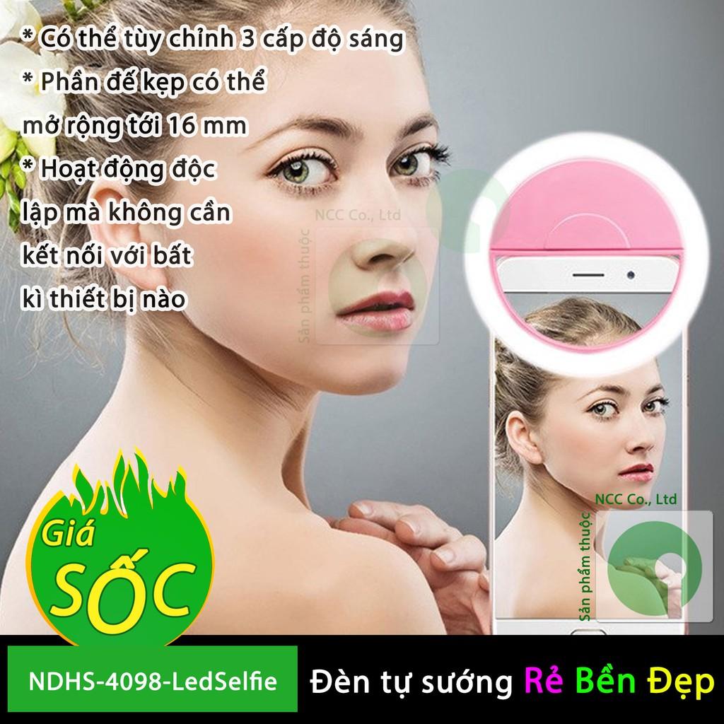 Kẹp đèn LED tự sướng Selfie tăng cường 3 chế độ sáng - đẹp mịn hơn khi chụp hình - NDHS-4098-LedSelfie