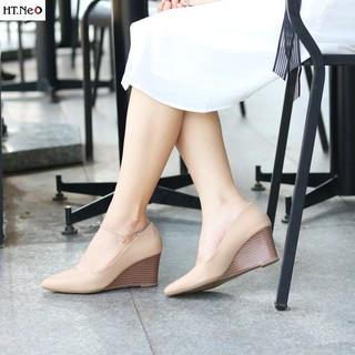 Giày đế xuồng nữ - giày da nữ HT.NEO da bò xịn đế kếp siêu bền và chắc chân lên dáng cực sang cực đẹp CS69 thumbnail