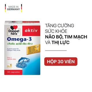 [TPCN Nhập Khẩu] Viên uống tăng cường thị lực, tim mạch và não bộ Doppelherz Aktiv Omega-3 + Folic acid + B6 + B12 thumbnail