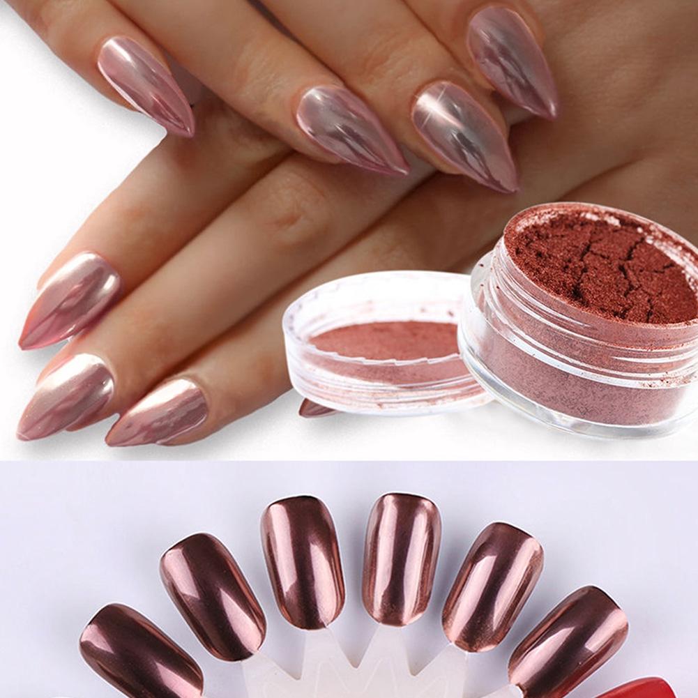 Rose Gold Mirror Powder Glitter Chrome Nail Art Decoration Accessories